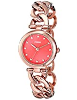 Fossil Olive Analog Red Dial Women's Watch - ES3581