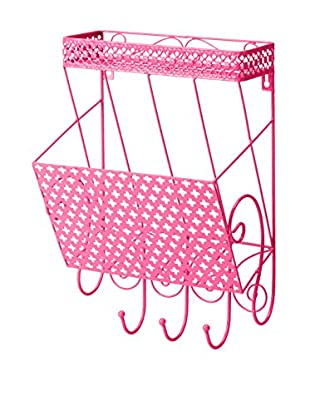 Three Hands Pink Metal Wall Storage