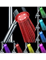 1pc Romantic LED 7 Color Changed Bathroom Hand Shower Head