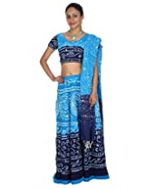 Rajrang Womens Cotton Classic Lehenga Cholis (Lhg00458 _Blue _38W X 40L)