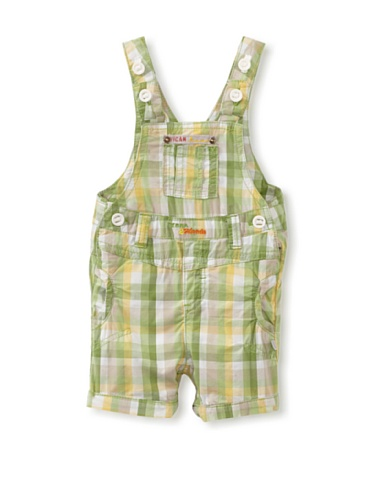 KANZ Baby Plaid Overalls (Green)