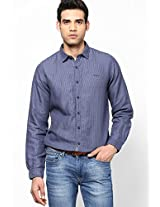 Blue Striped Casual Shirt Pepe Jeans