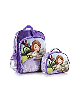 Disney Sofia the First Deluxe 15 Backpack with Detachable Lunch Bag