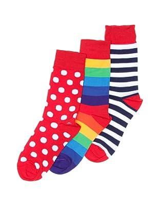 Sockaholic Pack de 3 Pares Calcetines Caña Baja Maxi + Lola + Supremme (Multicolor)