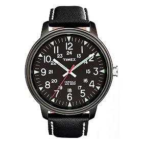 【クリックで詳細表示】TIMEX (タイメックス) 腕時計 ビッグEZリーダー キャンパーダイヤルブラックストラップ アナログ ブラック文字盤 T92660 メンズ [正規輸入品]