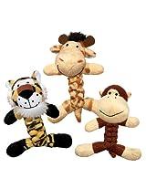 Kong Cat Braidz Safari Catnip Toy (Assorted)