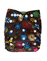 Ecoable All-In-One Bamboo Inner Cloth Diaper/Sewn-In Insert, Blossom