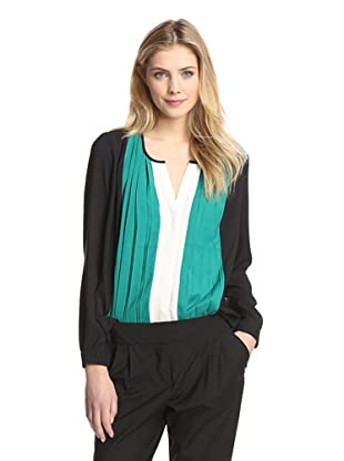 Tracy M Women's Pleat Front Top (Paragreen Combo)