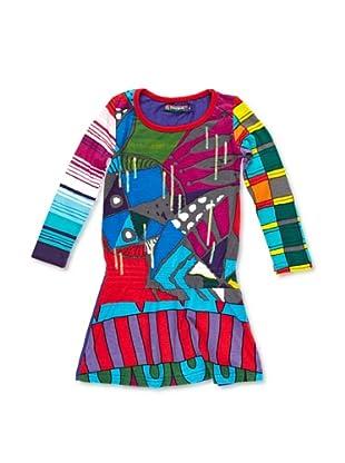 Desigual Vestido Multicultural (Lila Real)