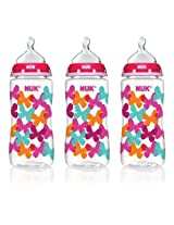 Nuk Orthodontic Bottle, Butterflies, 10 Ounce, 3 Count By Nuk