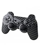 Yttl Hydro Dipped Black Gold Carbon Fiber Wireless Controller Replacement Shell For Ps3 Double Shock 3 Controller