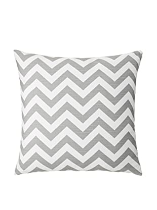 The Pillow Collection Xayabury Zig-Zag Decorative Pillow, Ash/Slub, 18