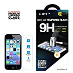 MTT® NEO G5 Apple iPhone 5 5c 5s Premium Tempered Glass Screen Protector Guard - Protect Your Screen from Scratches and Drops - Maximize Your Resale Value - 99.99% Clarity and Touchscreen Accuracy LAUNCH OFFER (60% OFF)