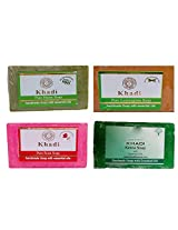Khadi Soaps 500 Grams (Pack of 4) (PNLGRK4)