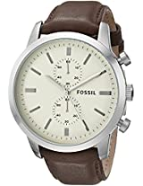 Fossil Townsman Chronograph Off-White Dial Men's Watch - FS4865