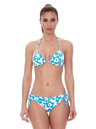 Teleno Moda Baño Bikini Cortinilla Con Foam (Azul)