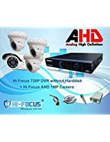 Hi Focus 8 CH 720P HDMI DVR, 1.0 MP 3 Pc Dome 1Pc Bullet CCTV AHD Security Camera System