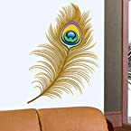 Gorgeous Peacock Feather Wall Sticker from Decal Dzine