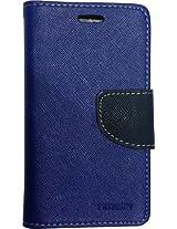 R safe Mercury flip cover for Samsung Galaxy Ace NXT SM-G313H (Blue)