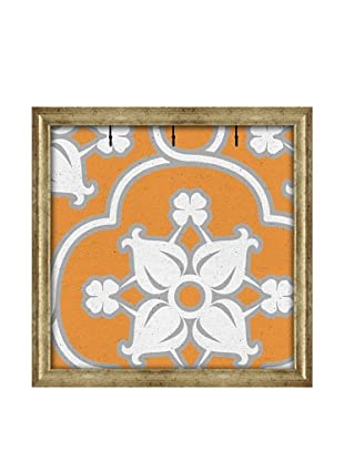 PTM Images Canvas Key/Jewelry Organizer with Foam-Core Backing, Blue/Orange