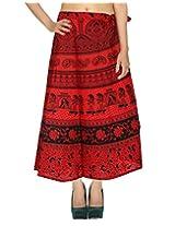 Rajrang Ethnic Indian Cotton Printed Wrap Around Long Skirt