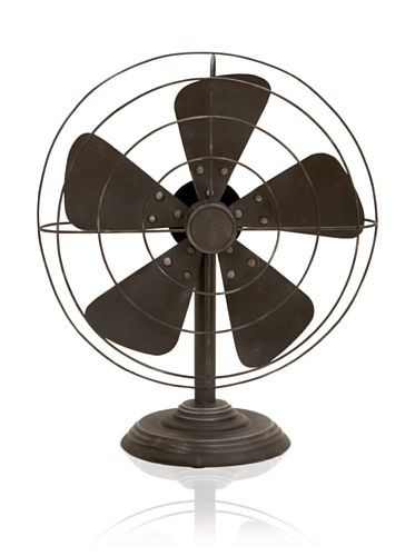 Industrial Chic Decorative Vintage-Style Fan