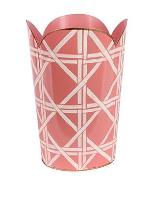 Jayes Cane Pink Tulip Wastebasket