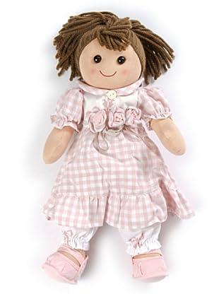 My Doll Stoffpuppe rosa/weiß