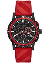 Burberry The City Red Rubber Chronograph Mens Watch Bu9805