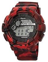 Burgmeister Men's BM803-024 Digital Display Quartz Red Watch