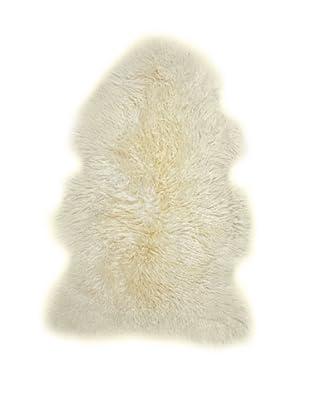 Natural Brand New Zealand Single Curly Sheepskin Rug, Natural, 2' x 3'