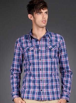 Schott NYC Camisa Check (Azul Marino)
