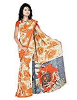 Anand Sarees Faux Georgette Synthetic Print Saree (JRD1503_Multi)