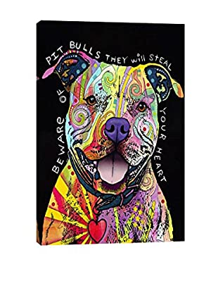 Dean Russo Beware Of Pit Bulls Gallery Wrapped Canvas Print