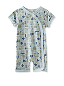 Lucky Jade Fish Print Cotton Coverall (Blue)