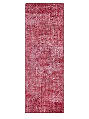 nuLOOM One-of-a-Kind Hand-Knotted Vintage Turkish Overdyed Rug, Raspberry, 3' 6