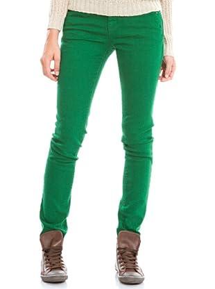 Springfield Pantalón Vaquero Color (Verde)