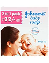 Johnson & Johnson Johnson Baby Soap (100Gm X Pack Of 3 = 300 Gm)