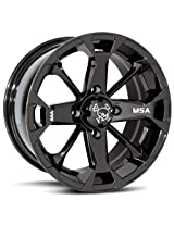 "MotoSport Alloys M17 Elixir Black Wheel ATV Wheel UTV Wheel (14x7""/4x156)"