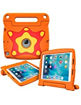 iPad Air 2 Case, Apple iPad Air 2 Kids case, rooCASE ORB 360 Starglow Kid Friendly Drop Shock Proof Protective Lightweight Tough Armor Case Cover Convertible Carrying Handle Stand - Orange