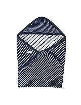 Buzzy Baby Boys' Quilted Wrap (KIMONO, Navy, One Size)
