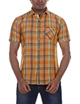 Fashionbean Men's Casual Shirt (CS1268B_M, PEACH, M)