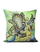 Giftsbymeeta Ganesh Print Cushion (12x 12) GIFTS3310