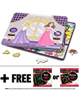 Dance All Night Princess Magnetic Tin Dress-Up Set + FREE Melissa & Doug Scratch Art Mini-Pad Bundle