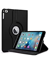 TGK 360° Degree Rotating Leather Smart Case Cover Stand for iPad MINI 4 - Black