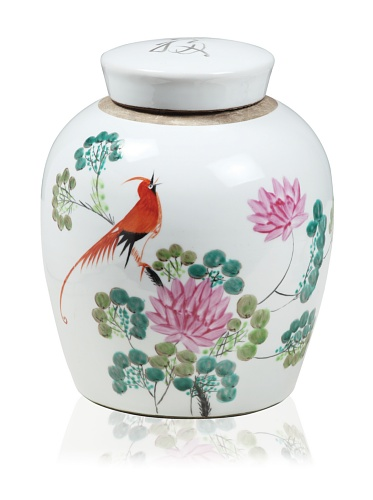 Creative Co-op Ceramic Ginger Jar (White)
