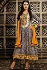 Karishma Kapoor Yellow and Blue Anarkali Suit