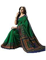 Ashika Printed Bollywood Designer Raw Silk Saree ,Sari (2434)