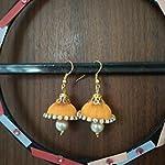 Orange Traditional Jhumki Earring