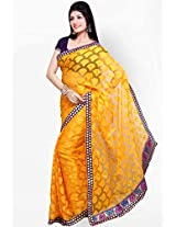 Ishin Net Jacquard Saree - Yellow